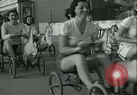 Image of mechanical hobby-horse race Santa Monica California USA, 1934, second 26 stock footage video 65675022442