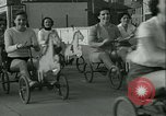 Image of mechanical hobby-horse race Santa Monica California USA, 1934, second 27 stock footage video 65675022442