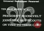 Image of President Roosevelt with Boy Scouts Ten Mile River New York USA, 1933, second 3 stock footage video 65675022453