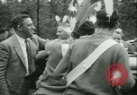 Image of President Roosevelt with Boy Scouts Ten Mile River New York USA, 1933, second 22 stock footage video 65675022453