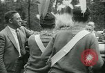 Image of President Roosevelt with Boy Scouts Ten Mile River New York USA, 1933, second 23 stock footage video 65675022453