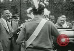 Image of President Roosevelt with Boy Scouts Ten Mile River New York USA, 1933, second 28 stock footage video 65675022453