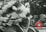 Image of President Roosevelt with Boy Scouts Ten Mile River New York USA, 1933, second 38 stock footage video 65675022453