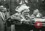 Image of President Roosevelt with Boy Scouts Ten Mile River New York USA, 1933, second 49 stock footage video 65675022453
