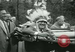 Image of President Roosevelt with Boy Scouts Ten Mile River New York USA, 1933, second 52 stock footage video 65675022453