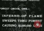 Image of Forest fire Forest Grove Oregon USA, 1933, second 1 stock footage video 65675022456