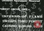 Image of Forest fire Forest Grove Oregon USA, 1933, second 8 stock footage video 65675022456