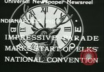 Image of Elks National Convention Indianapolis Indiana USA, 1933, second 10 stock footage video 65675022458