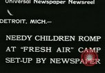 Image of Fresh Air Camp summer camp for poor children Sylvan Lake Michigan USA, 1933, second 2 stock footage video 65675022459