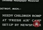 Image of Fresh Air Camp summer camp for poor children Sylvan Lake Michigan USA, 1933, second 3 stock footage video 65675022459