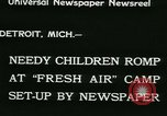 Image of Fresh Air Camp summer camp for poor children Sylvan Lake Michigan USA, 1933, second 5 stock footage video 65675022459