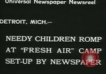 Image of Fresh Air Camp summer camp for poor children Sylvan Lake Michigan USA, 1933, second 9 stock footage video 65675022459