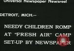 Image of Fresh Air Camp summer camp for poor children Sylvan Lake Michigan USA, 1933, second 10 stock footage video 65675022459