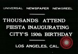 Image of celebration of city's 150th birthday Los Angeles California USA, 1931, second 1 stock footage video 65675022461