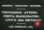 Image of celebration of city's 150th birthday Los Angeles California USA, 1931, second 5 stock footage video 65675022461