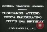 Image of celebration of city's 150th birthday Los Angeles California USA, 1931, second 8 stock footage video 65675022461
