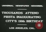 Image of celebration of city's 150th birthday Los Angeles California USA, 1931, second 9 stock footage video 65675022461