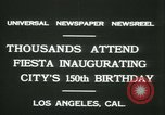 Image of celebration of city's 150th birthday Los Angeles California USA, 1931, second 12 stock footage video 65675022461
