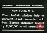 Image of Hollywood film magnate Carl Laemmle aboard the ship Europa New York City USA, 1931, second 6 stock footage video 65675022464