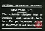 Image of Hollywood film magnate Carl Laemmle aboard the ship Europa New York City USA, 1931, second 9 stock footage video 65675022464