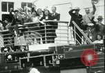 Image of Hollywood film magnate Carl Laemmle aboard the ship Europa New York City USA, 1931, second 54 stock footage video 65675022464