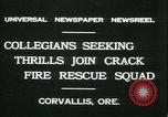 Image of Crack Fire Rescue Squad Corvallis Oregon USA, 1931, second 2 stock footage video 65675022468