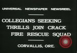 Image of Crack Fire Rescue Squad Corvallis Oregon USA, 1931, second 6 stock footage video 65675022468