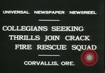 Image of Crack Fire Rescue Squad Corvallis Oregon USA, 1931, second 9 stock footage video 65675022468