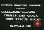 Image of Crack Fire Rescue Squad Corvallis Oregon USA, 1931, second 10 stock footage video 65675022468