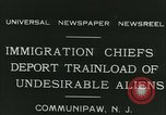 Image of illegal immigrants deported through Ellis Island Communipaw New Jersey USA, 1931, second 19 stock footage video 65675022469