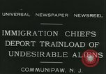 Image of illegal immigrants deported through Ellis Island Communipaw New Jersey USA, 1931, second 23 stock footage video 65675022469