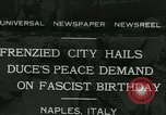 Image of Premier Benito Mussolini Naples Italy, 1931, second 1 stock footage video 65675022475