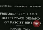 Image of Premier Benito Mussolini Naples Italy, 1931, second 2 stock footage video 65675022475