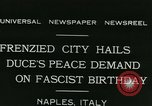 Image of Premier Benito Mussolini Naples Italy, 1931, second 5 stock footage video 65675022475