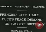 Image of Premier Benito Mussolini Naples Italy, 1931, second 7 stock footage video 65675022475