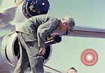 Image of Boeing B-47 Stratojet bomber Eglin Air Force Base Okaloosa County Florida USA, 1954, second 43 stock footage video 65675022542