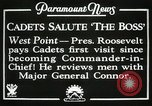 Image of President and Mrs. Franklin D. Roosevelt visiting U.S. Military Academ West Point New York USA, 1934, second 3 stock footage video 65675022615