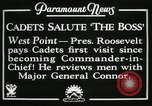 Image of President and Mrs. Franklin D. Roosevelt visiting U.S. Military Academ West Point New York USA, 1934, second 13 stock footage video 65675022615