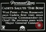 Image of President and Mrs. Franklin D. Roosevelt visiting U.S. Military Academ West Point New York USA, 1934, second 14 stock footage video 65675022615