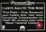 Image of President and Mrs. Franklin D. Roosevelt visiting U.S. Military Academ West Point New York USA, 1934, second 15 stock footage video 65675022615