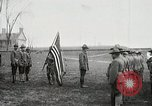 Image of US Army troops and band marching with flag during training United States USA, 1916, second 9 stock footage video 65675022632