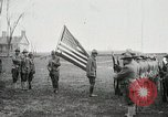 Image of US Army troops and band marching with flag during training United States USA, 1916, second 10 stock footage video 65675022632