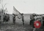 Image of US Army troops and band marching with flag during training United States USA, 1916, second 13 stock footage video 65675022632