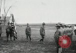 Image of US Army troops and band marching with flag during training United States USA, 1916, second 17 stock footage video 65675022632