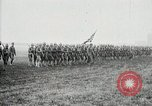 Image of US Army troops and band marching with flag during training United States USA, 1916, second 42 stock footage video 65675022632
