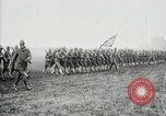 Image of US Army troops and band marching with flag during training United States USA, 1916, second 43 stock footage video 65675022632