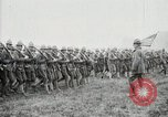 Image of US Army troops and band marching with flag during training United States USA, 1916, second 45 stock footage video 65675022632