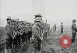 Image of US Army troops and band marching with flag during training United States USA, 1916, second 47 stock footage video 65675022632