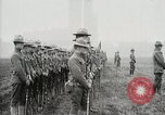 Image of US Army troops and band marching with flag during training United States USA, 1916, second 48 stock footage video 65675022632