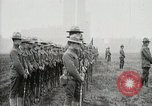 Image of US Army troops and band marching with flag during training United States USA, 1916, second 49 stock footage video 65675022632